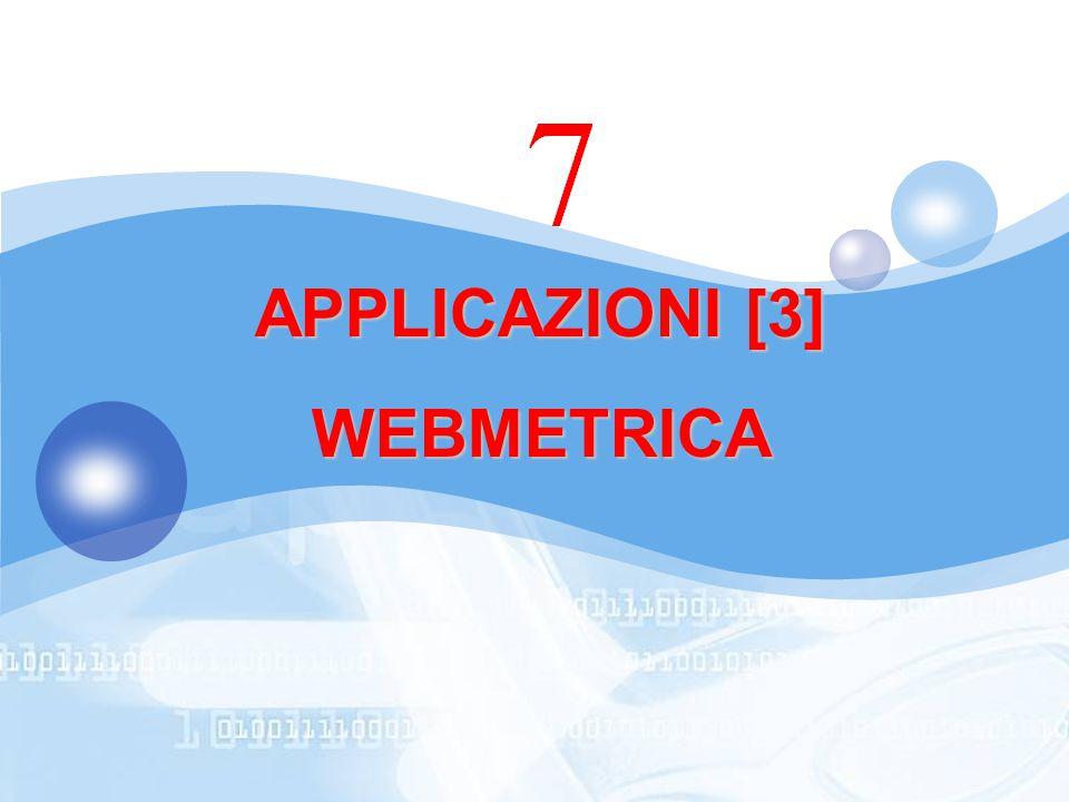 APPLICAZIONI [3] WEBMETRICA